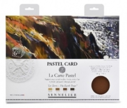 Sennelier Pastel Card 4-pack - Monochrome Assorted Earth Tones