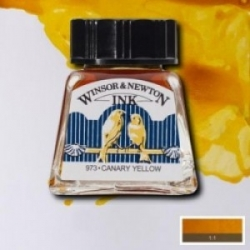 W&N, Drawing Ink 14ml - 123 Canary Yellow