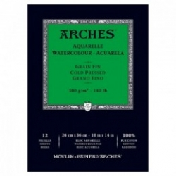 Arches Block White 300g - GF - 26x36cm - 12ark
