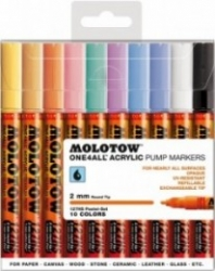Molotow, 127HS Pastel set, 10-set - 2mm
