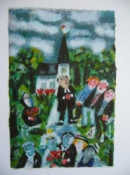 Sven Lidberg, Bröllop - Färglitografi 93/99