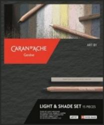 Caran d'Ache, Art by light & shade - 15 delar