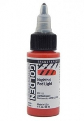 Golden, HF Acrylics - 8558 Transp. Napthol Red light